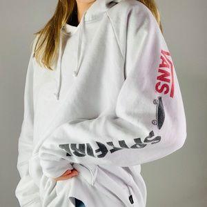 VANS Spitfire White Hoodie Sweatshirt L